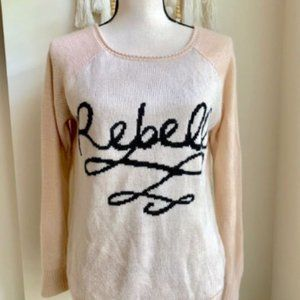 Blush Pink Rebelle Sweater